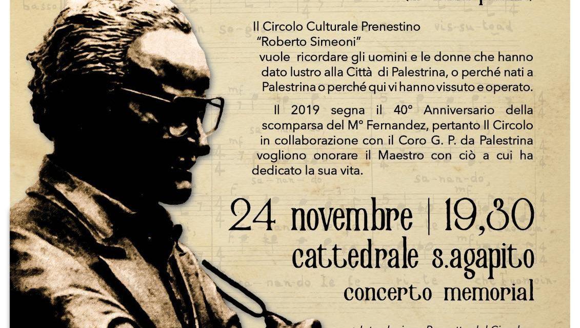 40° anniversario della scomparsa del M° Pio Fernandez