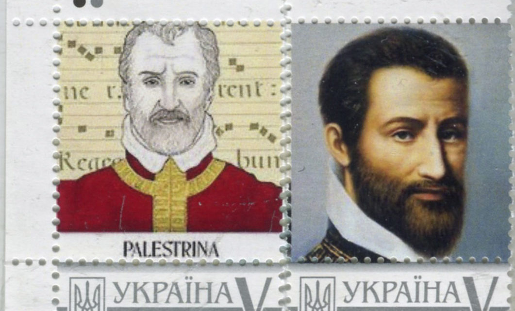 LE POSTE UKRAINE DEDICANO DUE FRANCOBOLLI A GIOVANNI PIERLUIGI