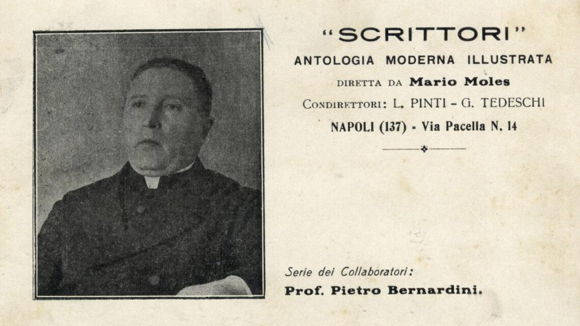 DON PIETRO BERNARDINI, SCRITTORE PRENESTINO DELLA PRIMA META' DEL NOVECENTO